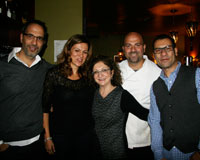 At book club with 'Jerusalem' authors Yotam Ottolenghi and Sami Tamimi and Tabule's Diana and Rony. .jpg