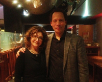 At Pangaea for book club with Lawrence hill1