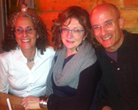 With rabbi Elyse Goldstein and Gil Hovav at Big crow.
