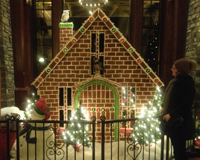 Gingerbread house at Banff springs