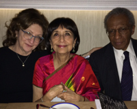 With Madhur Jaffrey and Sanford Allen at byblos
