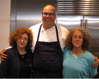 With Rabbi Elyse Goldstein and Chef Avner Laskin in tel Aviv at Bulthaup Culinary Academy1